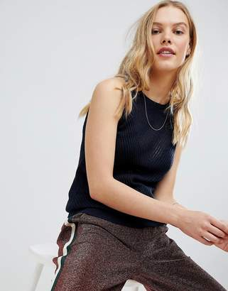 Maison Scotch Knitted Stitched Tank Tank