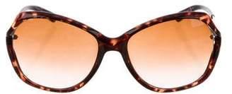 Tory Burch Square Tortoiseshell Sunglasses