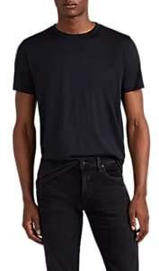 Theory Men's Plaito Silk-Cotton T-Shirt - Blue