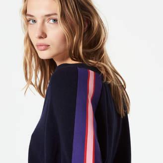 Sandro Wool & cashmere sweater with braid trim