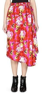 Kenzo Women's Floral-Print Midi Skirt