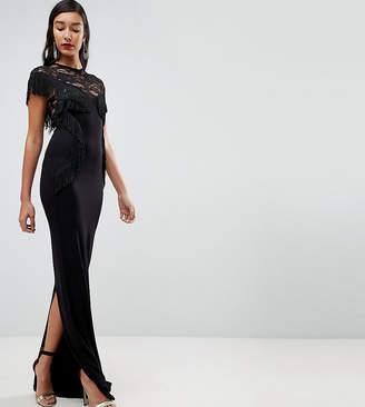 9793ea579e0 Asos Tall TALL Lace Maxi Dress with Fringing