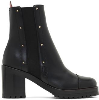Valentino Black Garavani Rockstud Rogue Boots