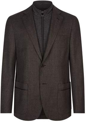 Corneliani Bomber Collar Insert Jacket
