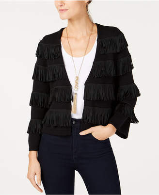 INC International Concepts I.N.C. Open-Front Fringe Cardigan, Created for Macy's