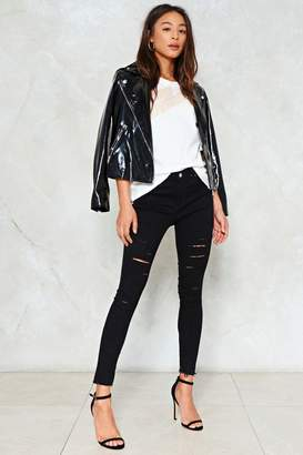 Nasty Gal Slash Into View Cropped Jeans