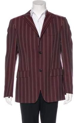 John Richmond Striped Wool Blazer