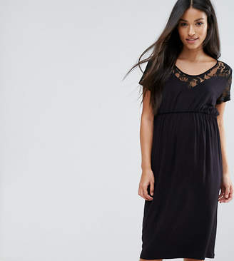 Mama Licious Mama.licious Mamalicious Dress With Lace Detail