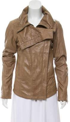 Nicholas K Leather Double Breasted Biker Jacket