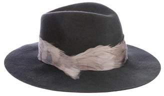 Eugenia Kim Wool Feather-Accented Hat