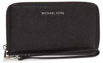MICHAEL Michael Kors Mercer Large Leather Wristlet