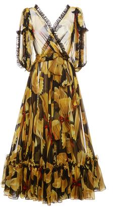Dolce & Gabbana Pasta Print Chiffon Dress $6,995 thestylecure.com