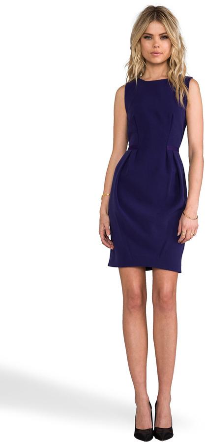 Halston Front Pleat Dress
