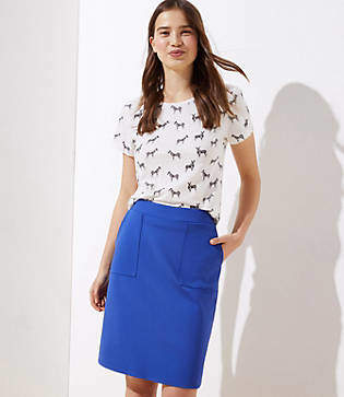 a9b405dd95 LOFT Petite Ponte Pull On Pocket Pencil Skirt