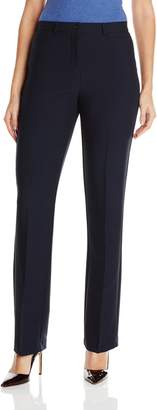 Haggar Women's Soft Twill Bi-Stretch Straight Leg Comfort Waist Pant