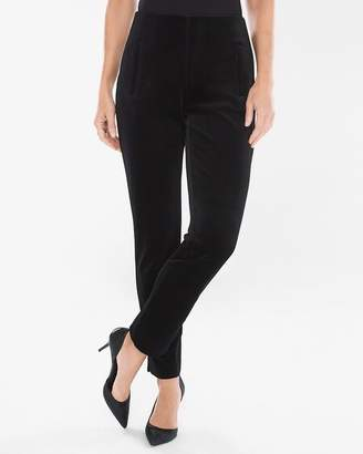 So Slimming Juliet Velvet Ankle Pants