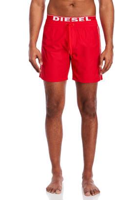 Diesel Elastic Waist Red Board Shorts