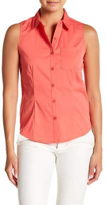Always & Forever Sleeveless Button Down Shirt