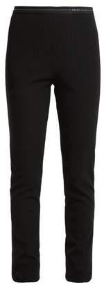 Prada Ribbed Leggings - Womens - Black