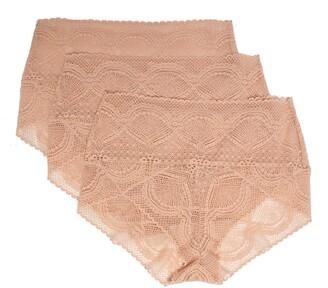 c49cf9bf72b Felina Mock Wrap 3-Pack Lace Briefs
