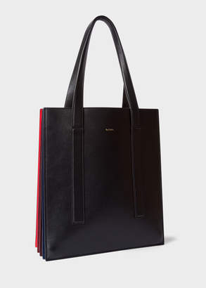 Paul Smith Women's Black And Red 'Concertina' Tote Bag