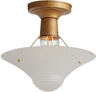 Rejuvenation Streamlined Bead Chain Light w/ Brass-Tone Fixture