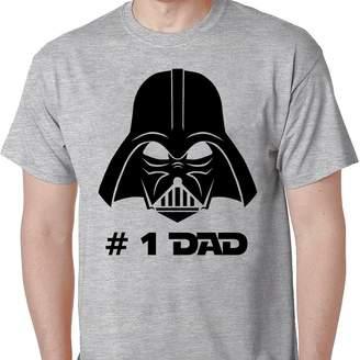 Star Wars GullPrint Darth Vader T Shirt Best Dad Gift I Am Your Father Grey