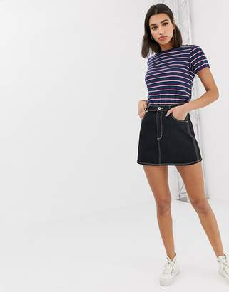 Abrand Denim Abrand denim skirt with contrast stitching co-ord