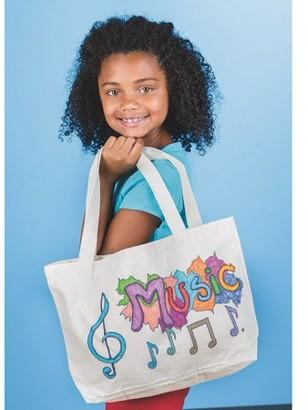Color Me Color-Me Canvas Tote Bag W/Gusset Pk6