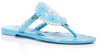 Jack Rogers Women's Georgica Striped Jelly Thong Sandals