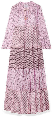 Yvonne S - Tiered Printed Cotton-voile Maxi Dress - Baby pink