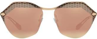 Bulgari rounded hexagonal frame sunglasses