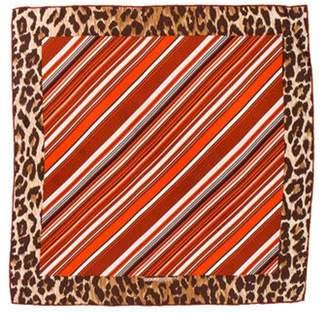 Dolce & Gabbana Silk Printed Scarf Orange Silk Printed Scarf