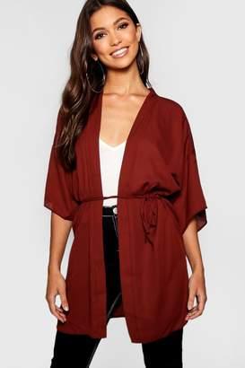 boohoo Chiffon Belted Kimono