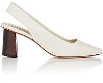 Helena Mari Giudicelli Women's Leather Slingback Pumps - White