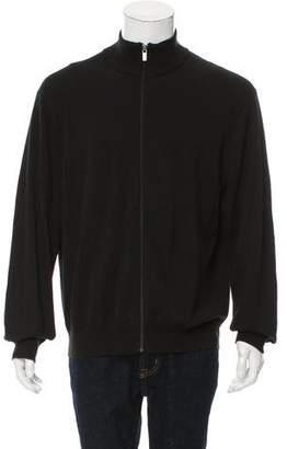 Michael Kors Knit Zip-Up Cardigan