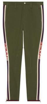 Gucci Gabardine pant with stripe