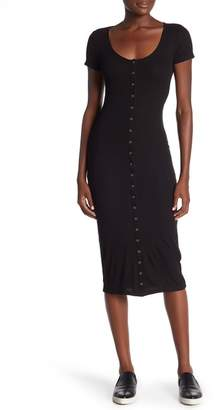 Abound Front Button Ribbed Dress