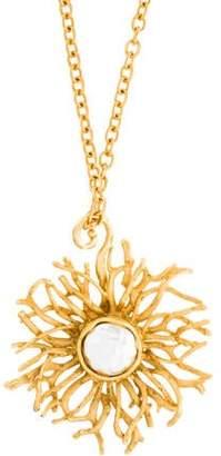 Stephanie Kantis Two-Tone Burst Pendant Necklace