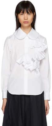 Comme des Garcons White Poplin Ruffle Shirt