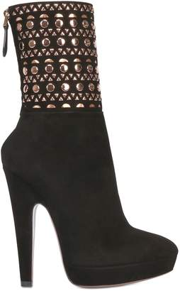 Alaia 135mm Studded Suede Boots