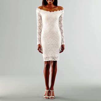 BLUE SAGE Blu Sage Long Sleeve Wedding Dress
