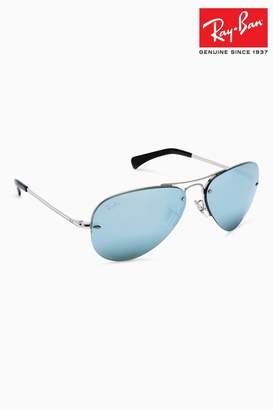 Ray-Ban Mens Aviator Sunglasses - Silver