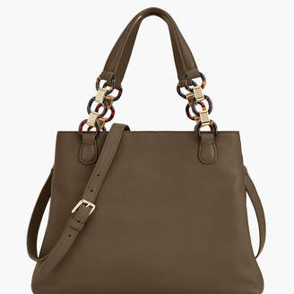 Talbots Soft Pebbled Leather Satchel