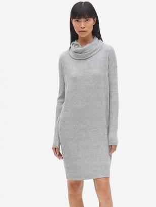 Gap Softspun Ribbed Cowl-Neck Sweater Dress