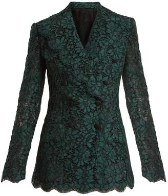 Dolce & Gabbana Cordonetto-lace double-breasted blazer