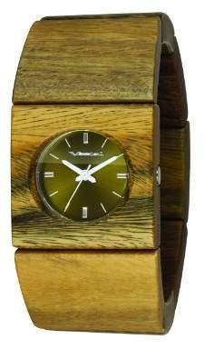 Vestal Women's 'Rosewood Slim' Quartz Stainless Steel and Wood Casual Watch