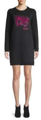 Love Moschino Embellished Sweatshirt Dress
