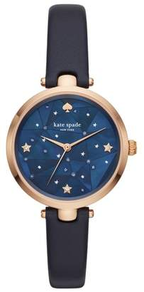Kate Spade Holland Constellation Leather Strap Watch, 34mm