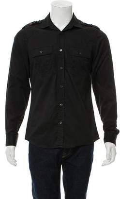 Gucci Web Trimmed Military Shirt